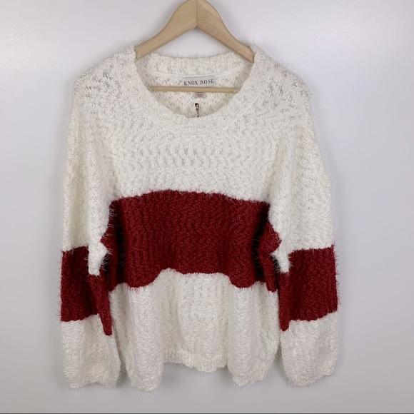 Knox Rose Crewneck Colorblock Pullover Sweater XXL